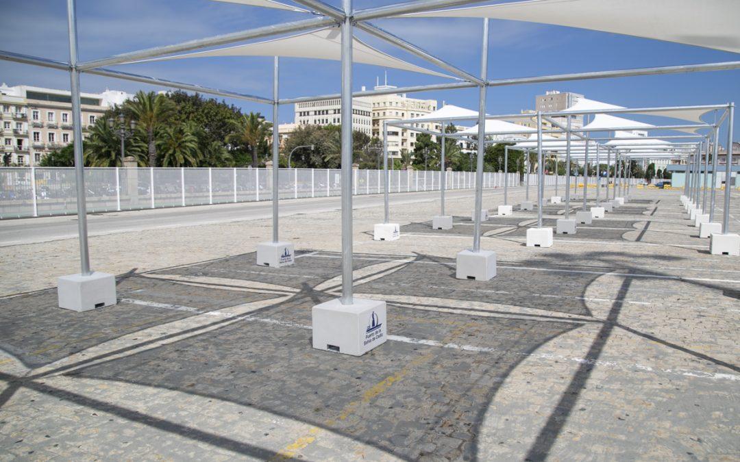 La Autoridad Portuaria prepara la apertura del muelle Ciudad ampliando las zonas de sombra