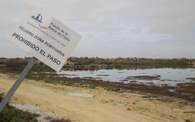 La Autoridad Portuaria usará la arena de las precargas de la Nueva Terminal de Contenedores para nivelar parcelas de la margen izquierda del Guadalete